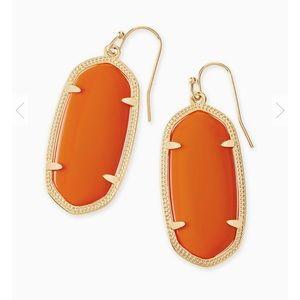 Kendra Scott Elle Earrings Orange Opaque Glass